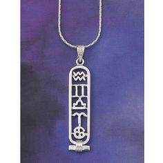Astrological Cartouche Necklace & Natal Chart - Women's Clothing & Symbolic Jewelry – Sexy, Fantasy, Romantic Fashions