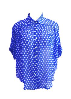 Button Button Top now comes in blue + white @ Domino Dollhouse