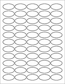 Ol   X  Oval Blank Label Template For Pdf  Pattern