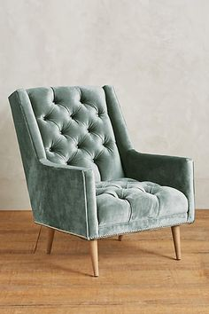 Slub Velvet Booker Armchair - anthropologie.com