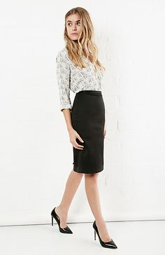 FRNCH L. Holt Pencil Skirt in Black S - M | DAILYLOOK