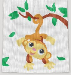 CROCHET Pattern Baby Blanket Monkey Crochet Graph