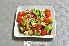 my favorite summer salad   salad   salad recipe   best salad recipe   vegetables   avocado   tomatoes   feta cheese   english cucumbers   healthy recipes   fit recipes   best recipes   eat clean   clean eating   veggies   vegetarian   fitness foods   healthy foods   quick recipes   easy recipes   fast recipes   the house candy   house candy