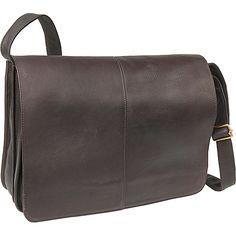 Le Donne Leather Quick Access Messenger - Caf
