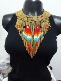 Beaded Collar, Collar Necklace, Beaded Necklace, Beaded Bracelets, Peyote Patterns, Beading Patterns, African Necklace, Beaded Jewelry Patterns, Bead Jewellery