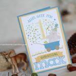 Geburtstagskarte Stampin Up Bär mit Name