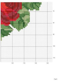 Rose heart c. stitch. lower right corner #6 graph