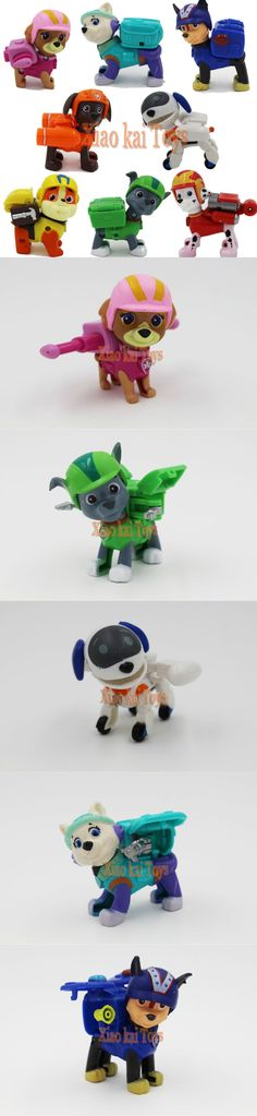 8pcs/Set Anime Kids Toys Patrol Puppy Toy Canine Patrulla Canina Action Toy Figures Patrol Dogs Brinquedos Movable Joints