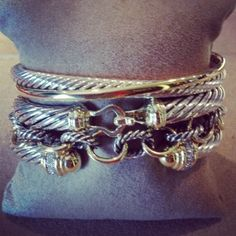 David Yurman Bracelet Stack