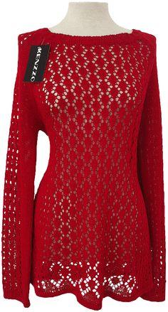 Jersey de perlé. Las prendas de punto de moda para este otoño. Alta calidad y a muy buen precio. Colores: Blanco, rojo, turquesa y beige. Tallas L y XXL.