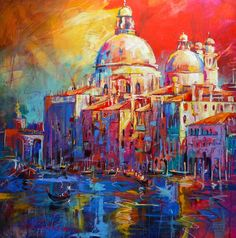 Jos Coufreur - Fremantle Artist Venice Acrylic on Canvas 100cmx100cm $2,500-