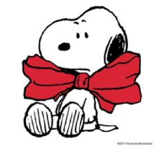 Snoopy with big red bow