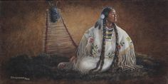 Native American Painting - Anticipation by Kim Lockman