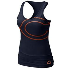 #fanaticsSummerWishList Nike Chicago Bears Women's Big Logo Tri-Blend Tank - Navy Blue