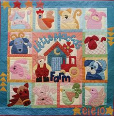 Farm Animal Quilt Patterns Free | Macca's Farm Block of the Month only 2 left