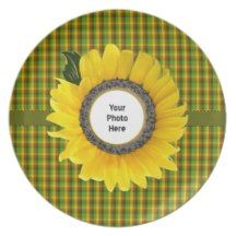 Sunflower Dinner Plate #zazzle #plate #sunflower