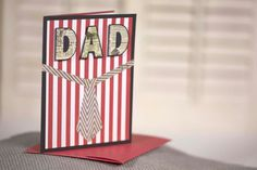 red striped and chevron tie homemade father's by cassandra7creates, $4.00