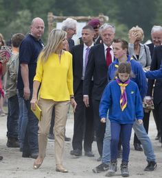 Queen Maxima of The Netherlands attended the opening of the new Scouting Estate Zeewolde a 70 acres area on the banks of Nuldernauw at the Horsterwold in Zeewolde on June 13, 2015