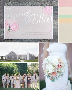 Stunning handpainted custom watercolor wedding stationary - This whole site and blog is unspeakably gorgeous!