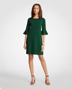 Fluted Sleeve Sweater Dress | Ann Taylor