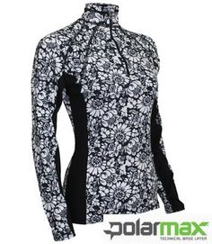 Polarmax Women's 4-Way Stretch Long Sleeve Print Zip Mock POLAR MAX. $62.45