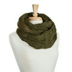 Scarf Olive green infinite scarf Accessories Scarves & Wraps