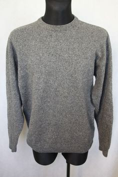 McNeal Mens Jumper Sweater Pullover Size sz XXL Grey 100% Wool #McNeal #Jumpers