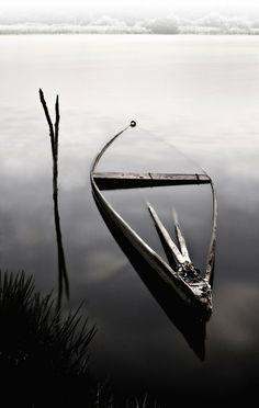 Sunken Dory ~ Photo by...?