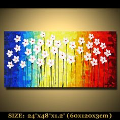 Abstract PAINTING Landscape Scenic painting original by mctopart, $199.00
