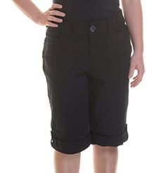 Charter Club Womens Twill Cuffed Pork Chop Shorts Deep Black 18 >>> Learn more by visiting the image link.
