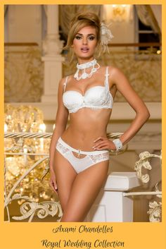 e12308befe Axami Chandelles bridal lingerie - balconette push up bra with lace briefs  or thong  Axami