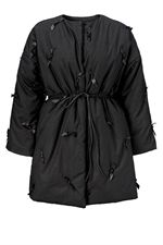 Agger Flachs padded coat black