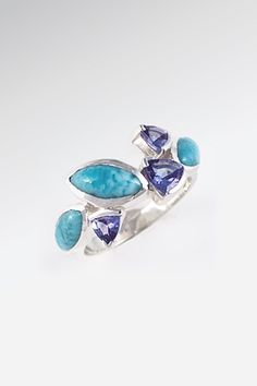 Larimarket - MarahLago Paloma Collection Larimar Ring with Tanzanite, $540.00 (http://www.larimarket.com/marahlago-paloma-collection-larimar-ring-with-tanzanite/)