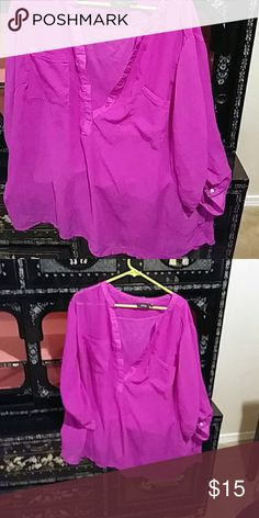 Two piece top with camisole underneath apt.9 Sheer purple blouse with matching camisole underneath Apt. 9 Tops Blouses