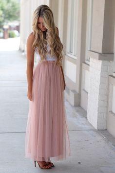 Twirl in Tulle Maxi Skirt