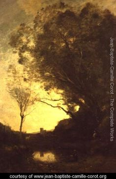 The Evening - Jean-Baptiste-Camille Corot - www.jean-baptiste-camille-corot.org