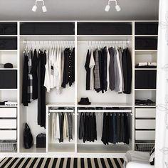 Trendy Open Closet Storage Ideas Walk In Walk In Closet Design, Bedroom Closet Design, Master Bedroom Closet, Bedroom Wardrobe, Wardrobe Closet, Closet Designs, Bedroom Storage, Diy Bedroom, Closet Doors