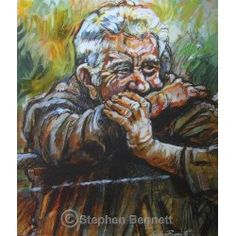 Irish art - A Keen Eye - Limited Edition print by Irish artist Stephen Bennett, from a painting of a farmer at a cattle mart. Wild Atlantic Way, Irish Landscape, Irish Art, Donegal, Limited Edition Prints, Figure Painting, Cattle, Farmer, Art Gallery