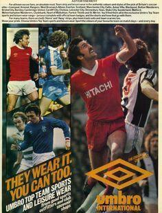Umbro International Sportswear advert in 1978.