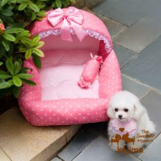 kojima 1 26 princesa cama do cão de estimação cama do cão de pelúcia ninho ninho de algodão US $29.68