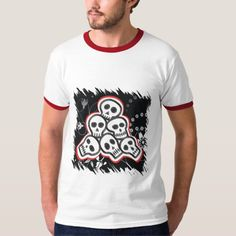 Pile of skulls Halloween t-shirt Halloween Skull, Halloween Gifts, Bird Silhouette Tattoos, Tattoo T Shirts, Casual Looks, Skulls, Vintage Inspired, Fitness Models, Decorations