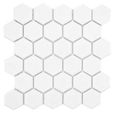 Merola Tile, Metro Hex 2 in. Glossy White 10-1/2 in. x 11 in. x 5 mm Porcelain Mosaic Floor and Wall Tile (8.02 sq. ft. / case), FXLM2HGW at...