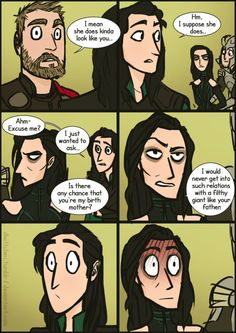 "sserpente: "" latent-thoughts: "" frenchfrostpudding: "" latent-thoughts: "" frenchfrostpudding: "" dkettchen: "" Mommy issues Aaand we're back to shitty gradient backgrounds xD HEAR ME OUT OK Loki is definetely younger than Hela in this universe, so..."