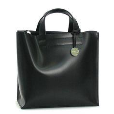 Sleek and simple black leather Furla bag
