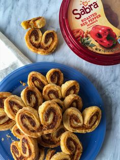 For a twist on the classic French palmier, try this savory version with just three-ingredients: Sabra Roasted Red Pepper Hummus, parmesan cheese and puff pastry dough. Puff Pastry Dough, Frozen Puff Pastry, Red Pepper Hummus, Roasted Red Peppers, Vegetarian Cheese, Easy Meals, Easy Recipes, Bread Baking, Baked Goods