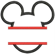 Instant Download  Mickey Mouse Head Shape by MyEmbroideryShoppe, $2.50