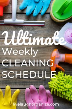 Cleaning Items, Diy Cleaning Products, Cleaning Hacks, Weekly Cleaning Schedule Printable, Cleaning Checklist, Apps For Moms, Blemish Remover, Organized Mom, Spring Cleaning