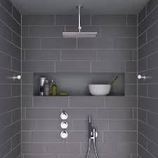 Image result for white tiles for shower niche