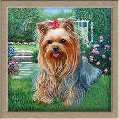 "DIY 5D diamond painting cross stitch ""Cute puppy"" size:25*25cm round diamond embroidery mosaic  house Crafts decoration"