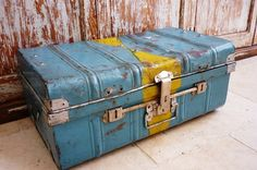 40s Industrial Tin Trunk | Storage Box